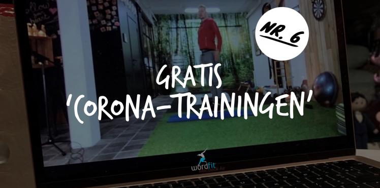 Opname 6e Corona-training WordFit Gewoon thuis trainen