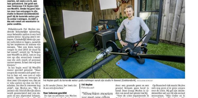 Artikel Gazet van Antwerpen 25/03/2020