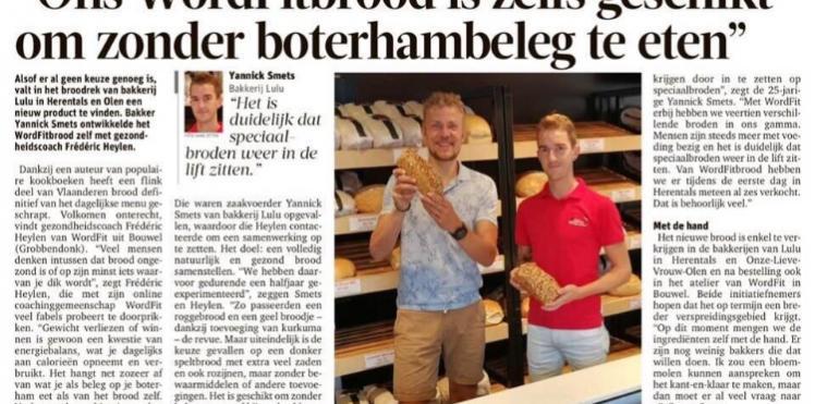 WordFit-brood in Gazet van Antwerpen