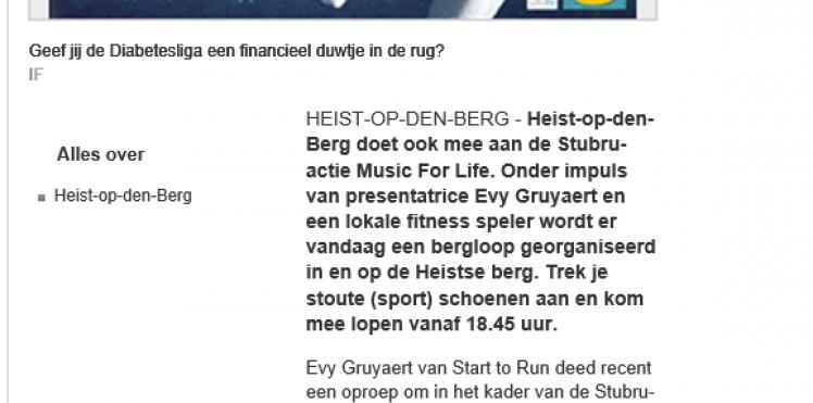 Artikel Het Nieuwsblad 20/12/2013