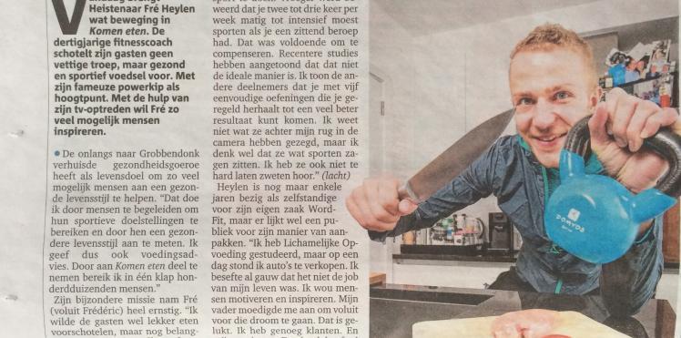 Artikel Gazet van Antwerpen 09/02/2015