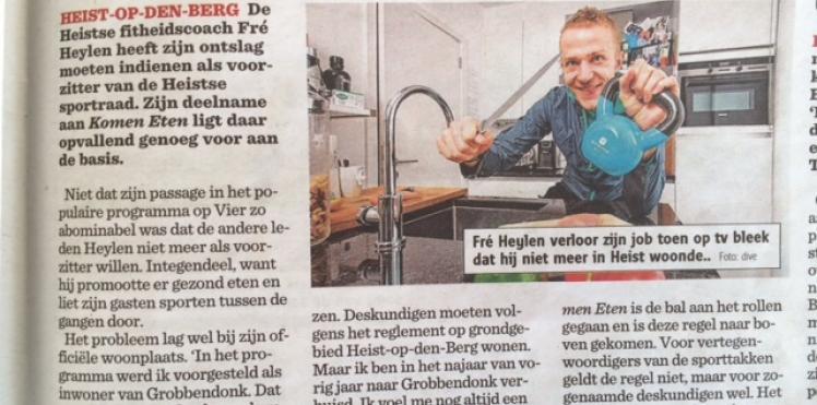 Artikel Het Nieuwsblad 01/04/2015