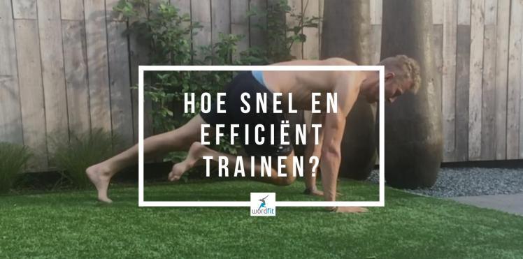 snel en efficiënt trainen met HIIT
