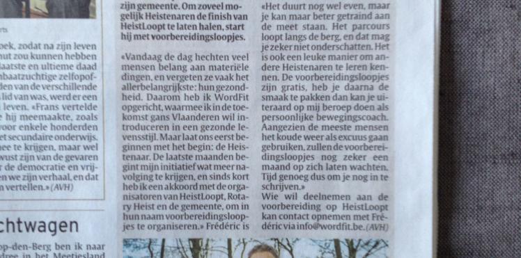 Artikel Het Laatste Nieuws 18/02/'13