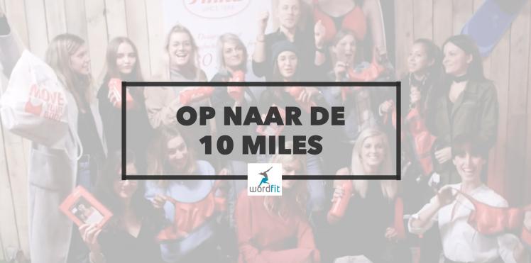 Op naar de 10 Miles van Antwerpen Campagne WordFitMedia voor WordFit