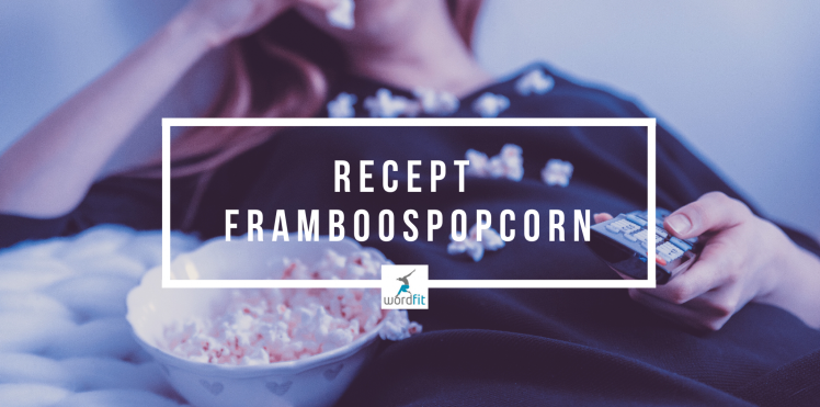 Recept Framboospopcorn WordFit