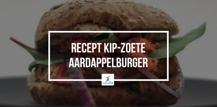 Recept kip-zoete aardappelburger WordFit Fré Heylen