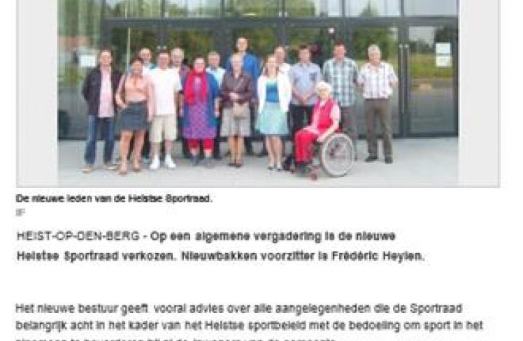 Artikel Het Nieuwsblad 26/06/'13