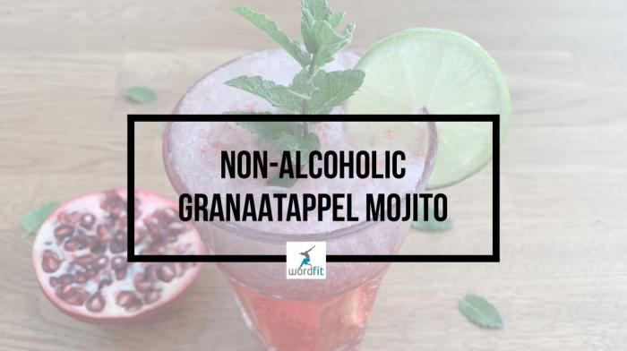 Granaatappel mojito Mocktail Recept