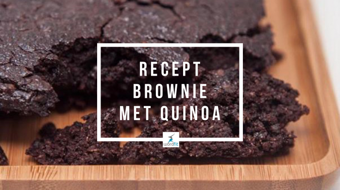 Recept Brownie met quinoa