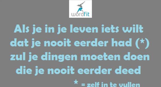 Doe dingen ander!! WordFit