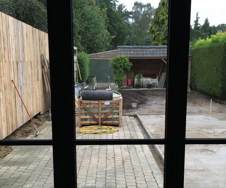 Heraanleg tuin aan WordFit-studio in Bouwel