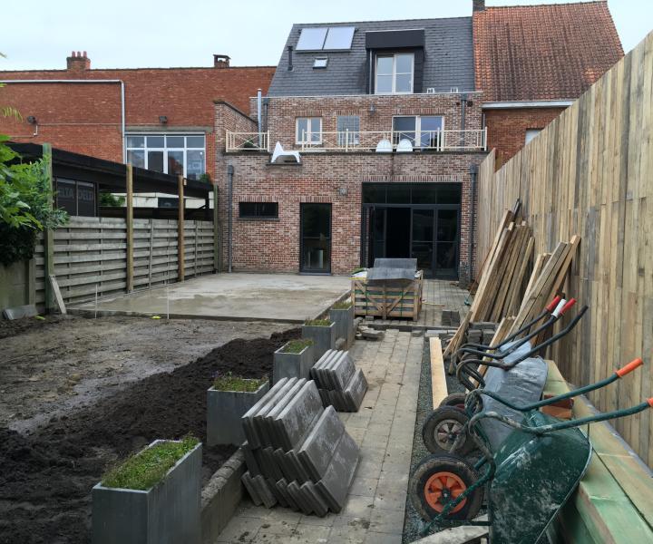 Heraanleg tuin aan WordFit-studio te Bouwel