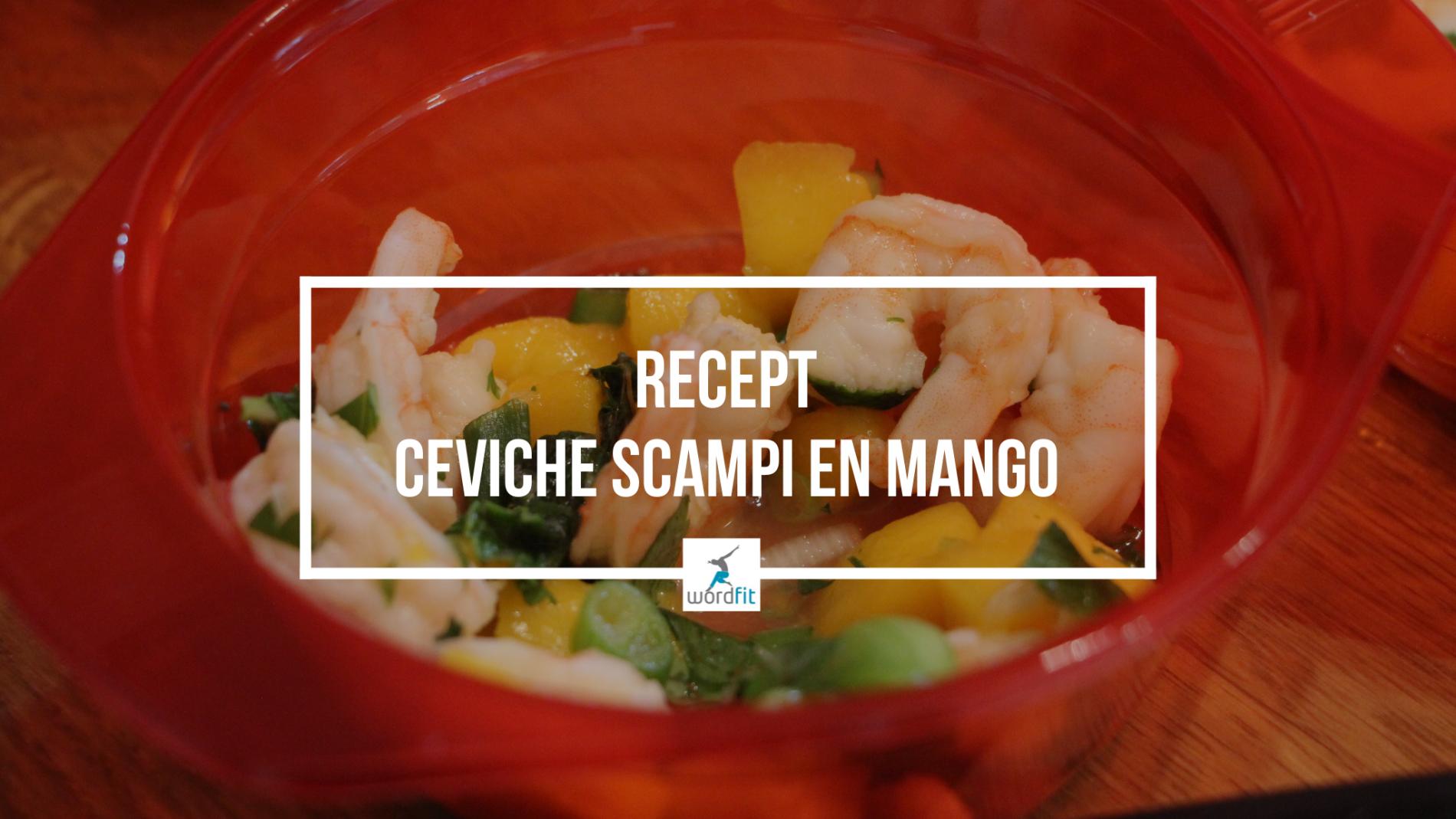 Ceviche van scampi en mango WordFit Online lifecoaching voor een leven vol goesting en energie