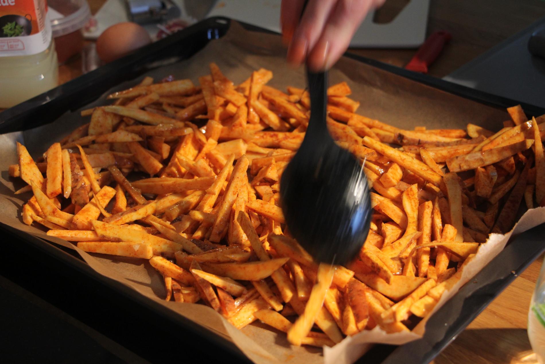 Frietjes van zoete aardappel WordFit.be 'Gezond leren eten'