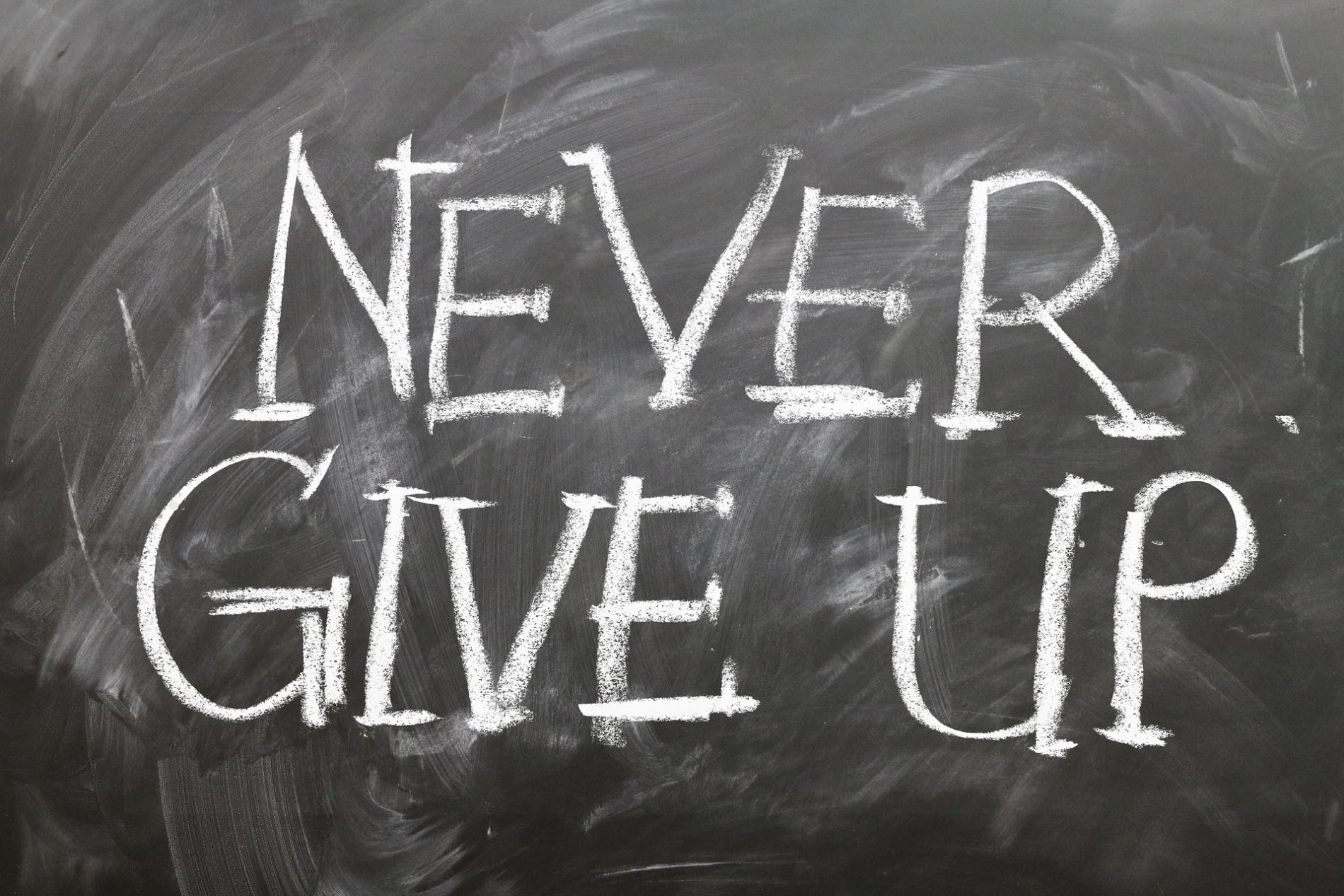 Never give up. Move on ;-) WordFit.be