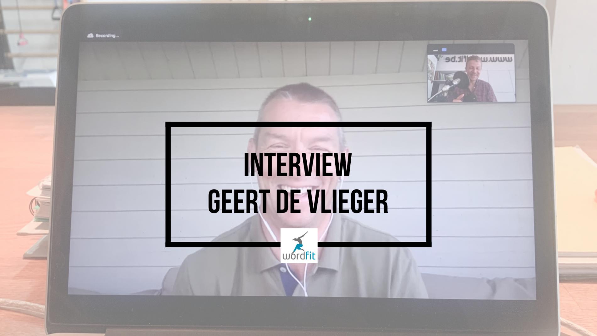 Interview Geert De Vlieger