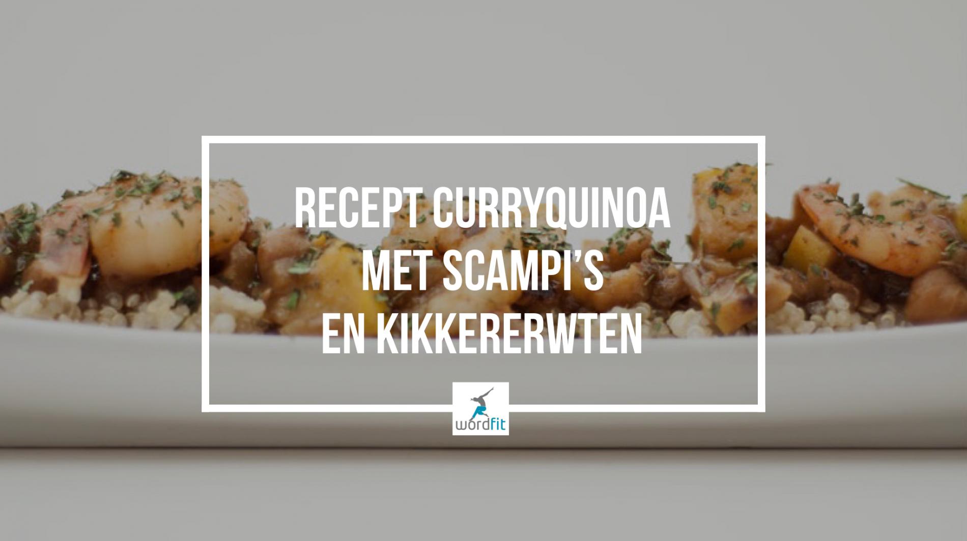 Recept Curryquinoa met scampi's en kikkererwten