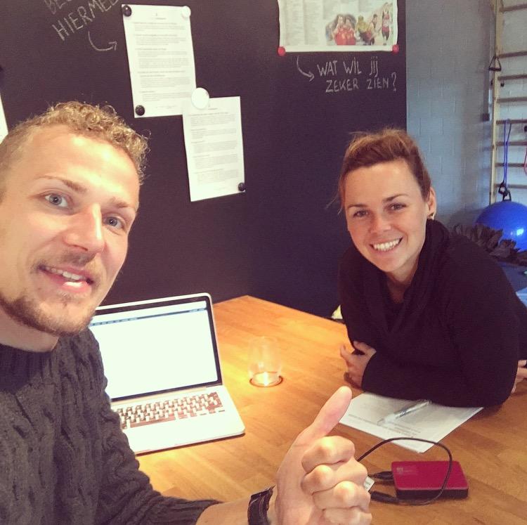WordFit Relaxtie-experte Tanja De Backer en oprichter WordFit Fré Heylen