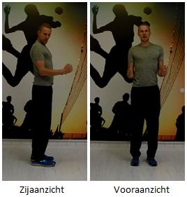 Beginpositie W-oefening Correcte houding schouders